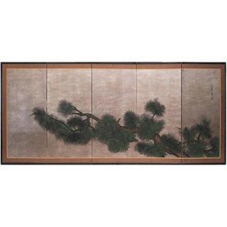 C. 1940-1960s Japanese 5-Panel Byobu Screen For Sale