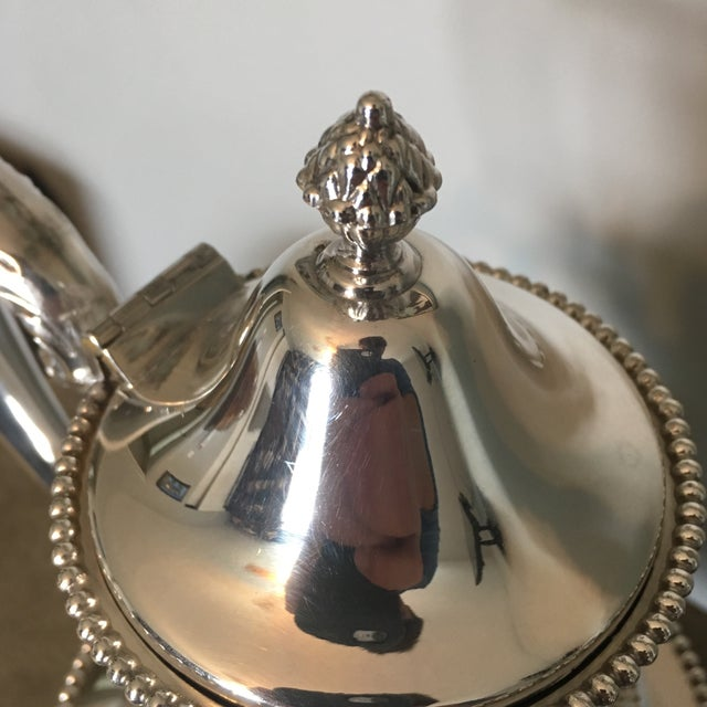 Coffee pot in Period Silver Plate by Benedict. Fabulous, crisp look to this fine piece. Lovely beading on edges with a...