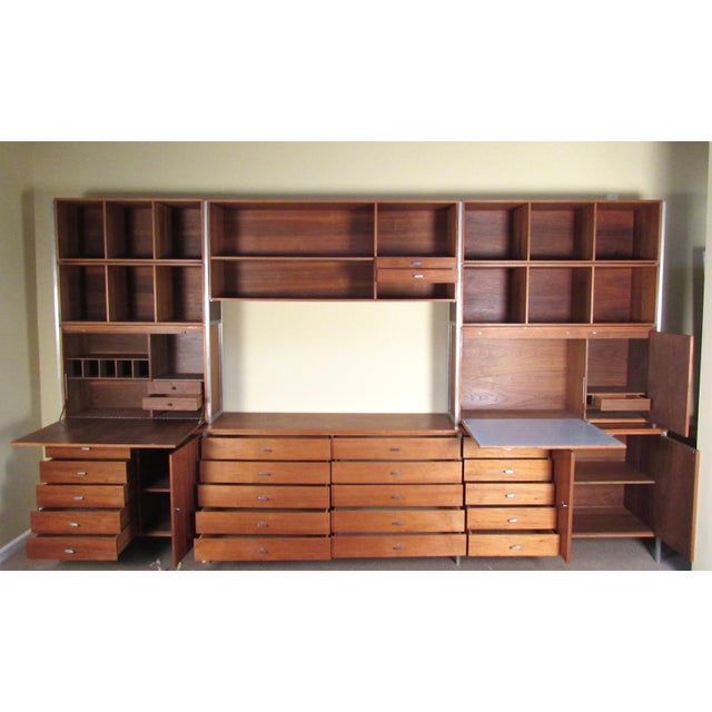 Mid-Century Modern Paul McCobb for H Sacks and Son Modular Wall Unit For Sale - Image 3 of 12