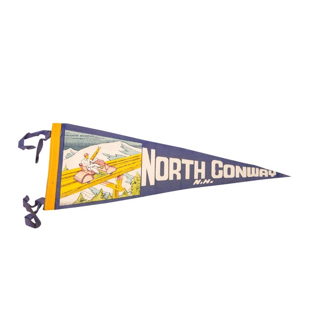 North Conway, NH Felt Flag - Image 1 of 3
