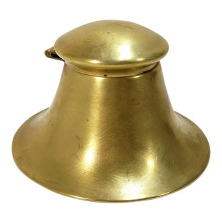 Antique Brass Inkwell For Sale