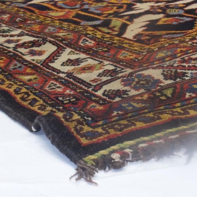 "Leon Banilivi Antique Black Bakhtiari Rug - 3'10"" X 14' - Image 4 of 4"