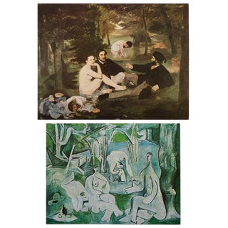 """Manet and Picasso, """"Lunch on the Grass"""" First Edition Lithograph and Parisian Photogravure, Set N1 For Sale"""