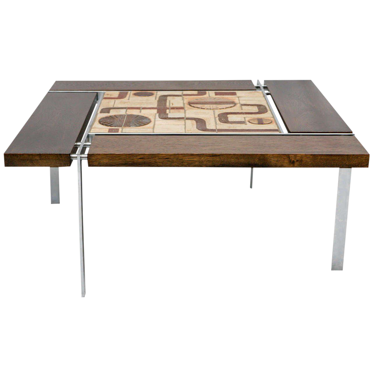 superior danish tile top coffee table | decaso