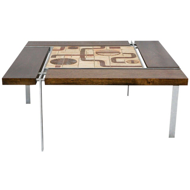 Danish Tile Top Coffee Table For Sale