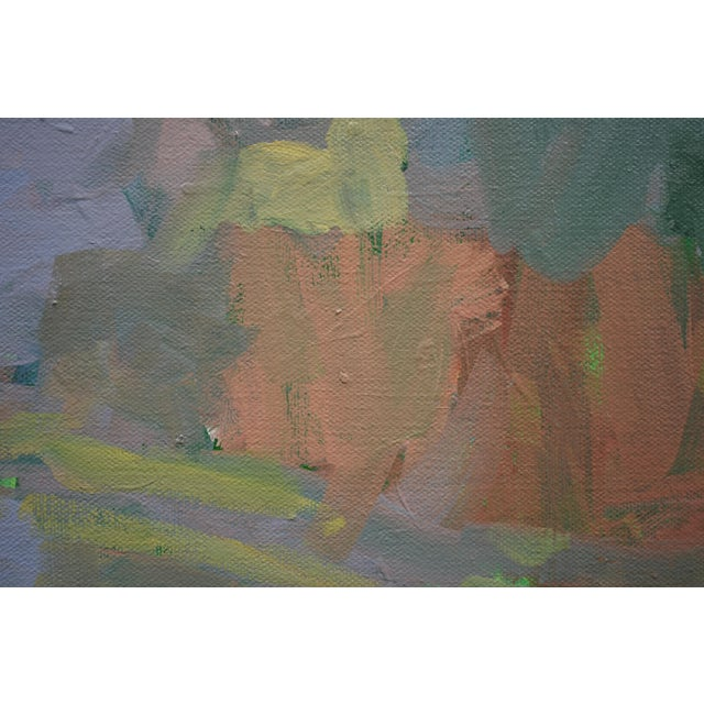 """2010s Contemporary Landscape Painting by Stephen Remick, """"Overcast Autumn Day at the Pond"""" For Sale - Image 5 of 11"""