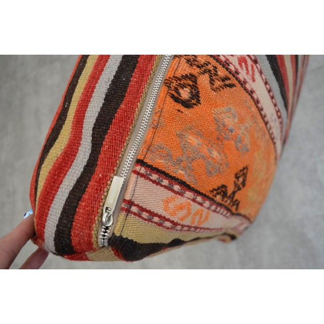 Turkish Hand Woven Floor Cushion Cover - 29″ X 29″ - Image 9 of 10