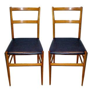 Pair of Gio Ponti Superleggera Chairs For Sale