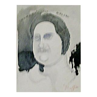 """Daniel Maffia [1937- ] French Illustrator """"Honore De Balzac"""" and """"The Contemporary"""" Circa 1960 - 2 Pieces For Sale"""