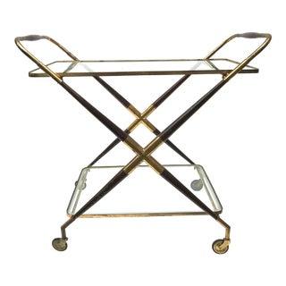 Cesare Lacca Italian Mid Century Bar Cart For Sale