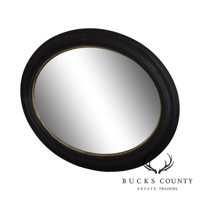 Roma Large Oval Frame Italian Wall Mirror For Sale - Image 13 of 13
