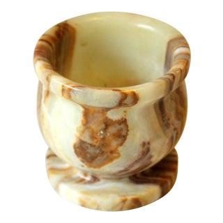 1970s Vintage Alabaster Trinket Bowl For Sale
