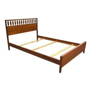 Johnson Carper Walnut Full Bed For Sale