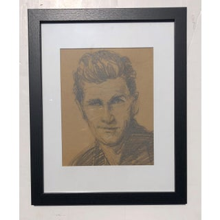 Vintage Charcoal Portrait of a Handsome Man Preview
