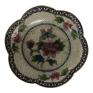 19th Century French Plique a Jour Dish For Sale