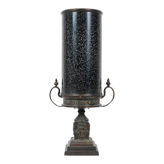 Theodore Alexander Black Speckled Urn Lamp For Sale