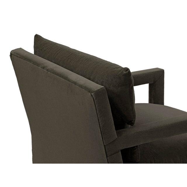 Milo Baughman 1970s Vintage Milo Baughman Parsons Chairs - a Pair For Sale - Image 4 of 5