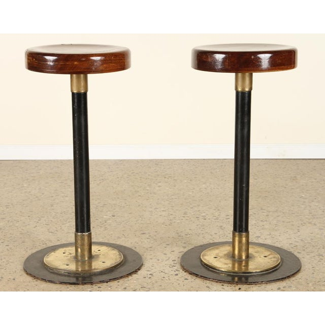 Mid-Century Modern Lacquered Wood Bar Stools For Sale - Image 3 of 7