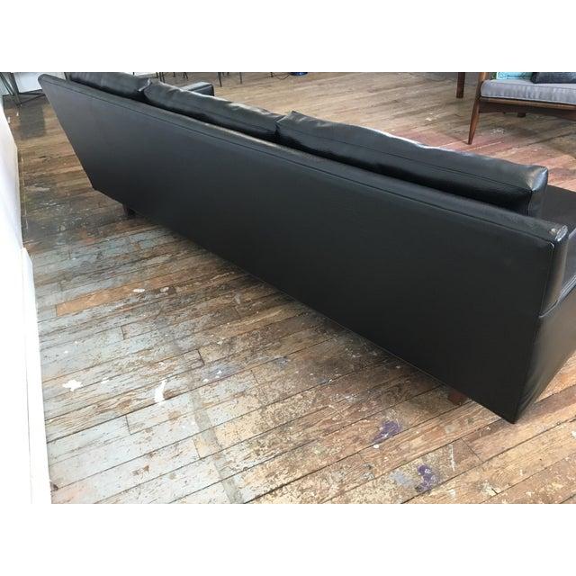 On Hold - Mid Century Black Naugahyde Sofa - Image 5 of 8