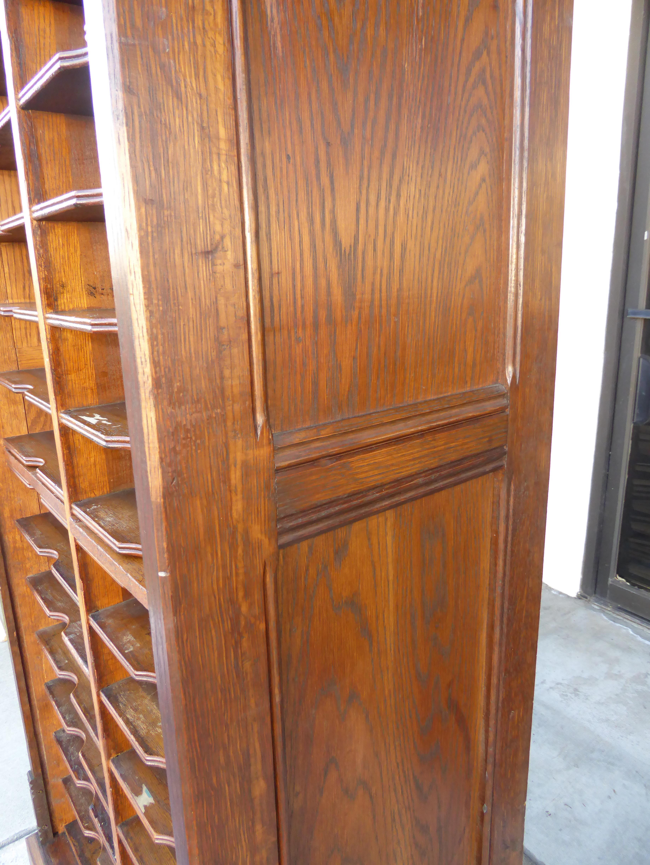 Elegant Antique Oak File Cabinet W Rollup Tambour Door   Image 7 Of 11