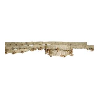 Lee Jofa Asbury Olive Me ic Gold Marble Beaded Tassel Trim - 24-1/8y For Sale