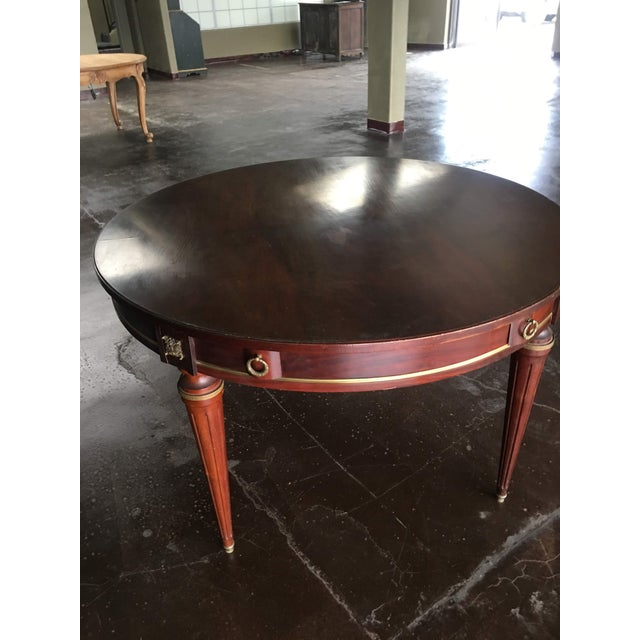 Empire 18th Century French Louis XVI Style Circular Top Table For Sale - Image 3 of 7