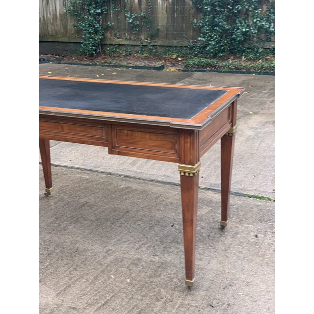 Directoire Style Writing Desk With Leather Top For Sale In Houston - Image 6 of 11