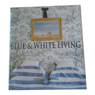 Blue and White Living Hardcover Book For Sale