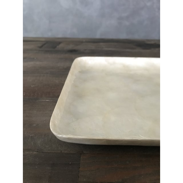 Square Capiz Shell Tray For Sale - Image 5 of 6