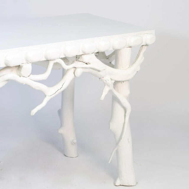 1990s White Lacquered Root Console For Sale - Image 4 of 12