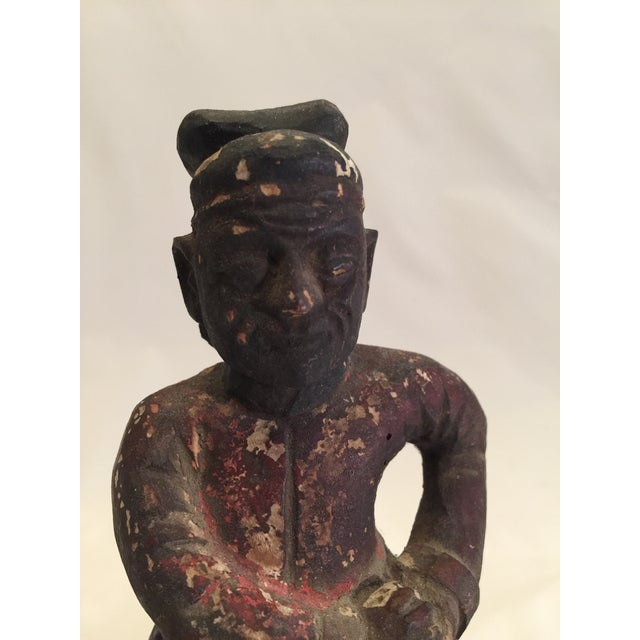 19th Century Chinese Carved Warrior Ancestor For Sale - Image 4 of 5