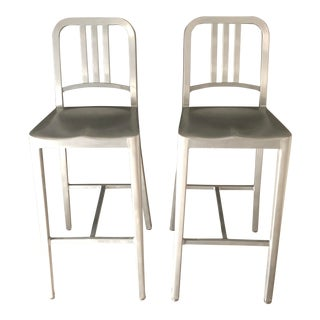 Modern Emeco Navy Collection Bar Stools- A Pair For Sale