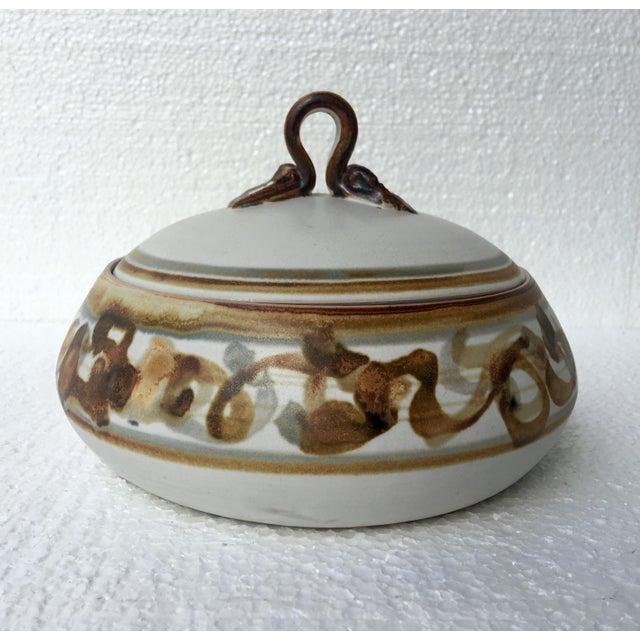 Vintage Studio Pottery Lidded Dish - Image 3 of 7