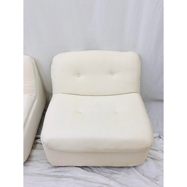 Vintage Contemporary Modern Slipper Chairs For Sale - Image 9 of 13
