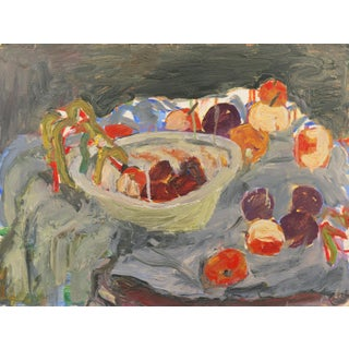 'Still Life With Plums' by Janet Ament De La Roch; Salon D'Automne, Paris, California Woman Artist, Lacma For Sale