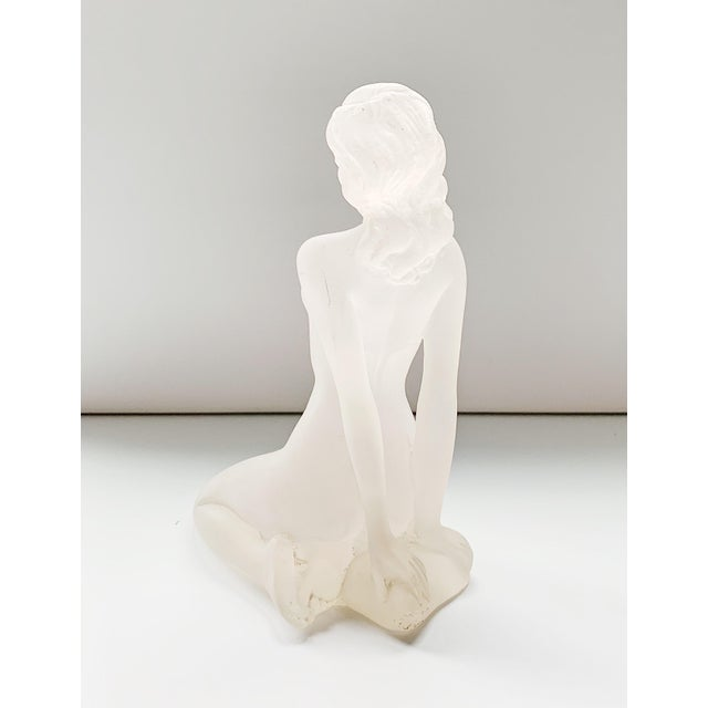 Contemporary 1980s Lucite Nude Female Sculpture For Sale - Image 3 of 7