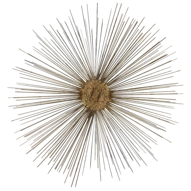 Curtis Jere Style Starburst Wall Sculpture by Bruce & William Friedle For Sale