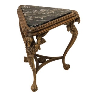 Antique Carved Italian Marble Top Table For Sale