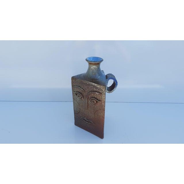 Brown Vintage Art Handmade Sculptural Studio Pottery Vase For Sale - Image 8 of 11