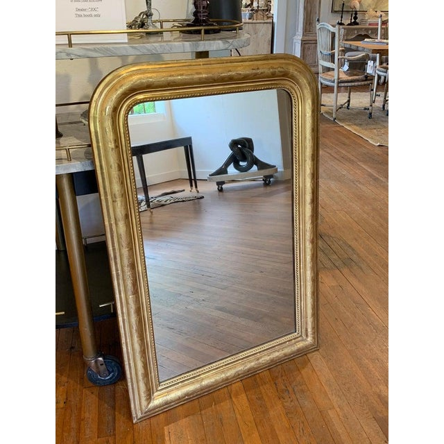 Fine 19th Century Louis Philippe Giltwood Incised Decorated Mirror For Sale - Image 4 of 6