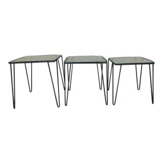 A. Bueno De Mesquita for Spurs Set of 3 Wire and Glass Tables