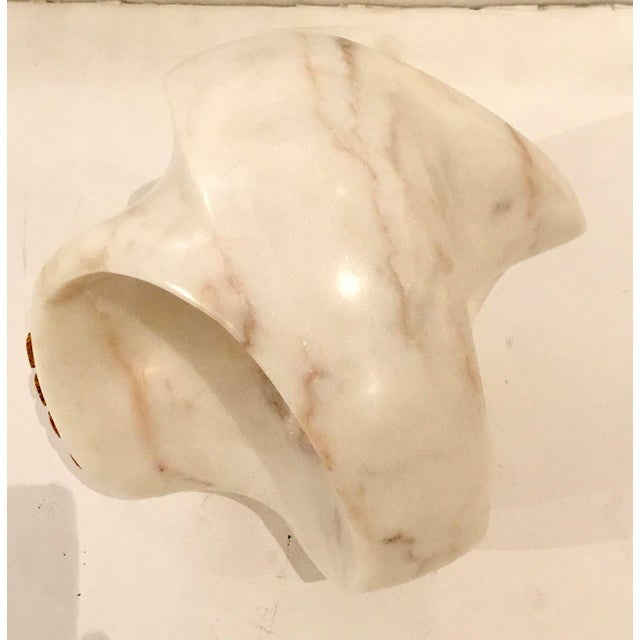 Abstract Regina Andrew Modern White Marble Abstract Lyric Sculpture For Sale - Image 3 of 4
