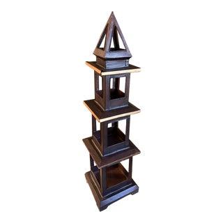 Vintage Tole Pagoda Figurine For Sale