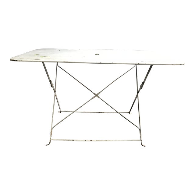 1880 Antique French Folding Garden Table - Image 1 of 5