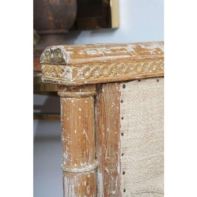 Early Gustavian Bench With Beautiful Carved Decoration All Around. For Sale - Image 9 of 11