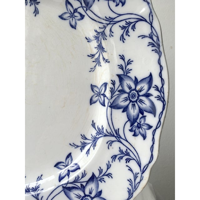 Asian 19th Century Chinoiserie Ironstone Transferware Platter For Sale - Image 3 of 9