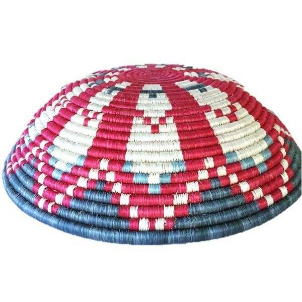 African Basket / Rwanda Baskets/ Woven Basket/ Sweet Grass and Sisal/ Boho| Wall Hanging Basket| Fruit Basket - Image 3 of 5