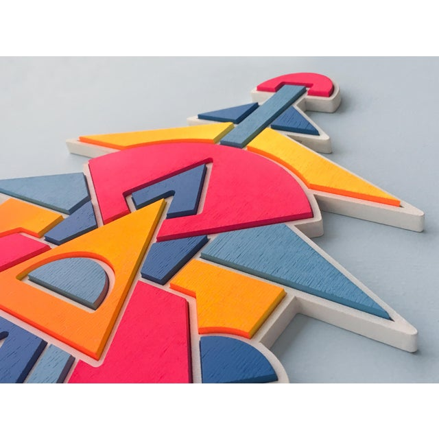 Contemporary Contemporary Pink Blue & Orange Artist Proof Puzzle by Chad Wentzel Made For Sale - Image 3 of 6