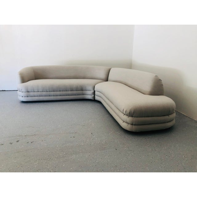 Mid-Century Modern 1970s Vladimir Kagan Directional Sectional Sofa For Sale - Image 3 of 9