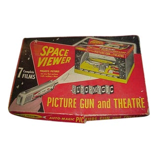 1946 Space Viewer Steel Picture Gun Theater With Box & Film Model 494